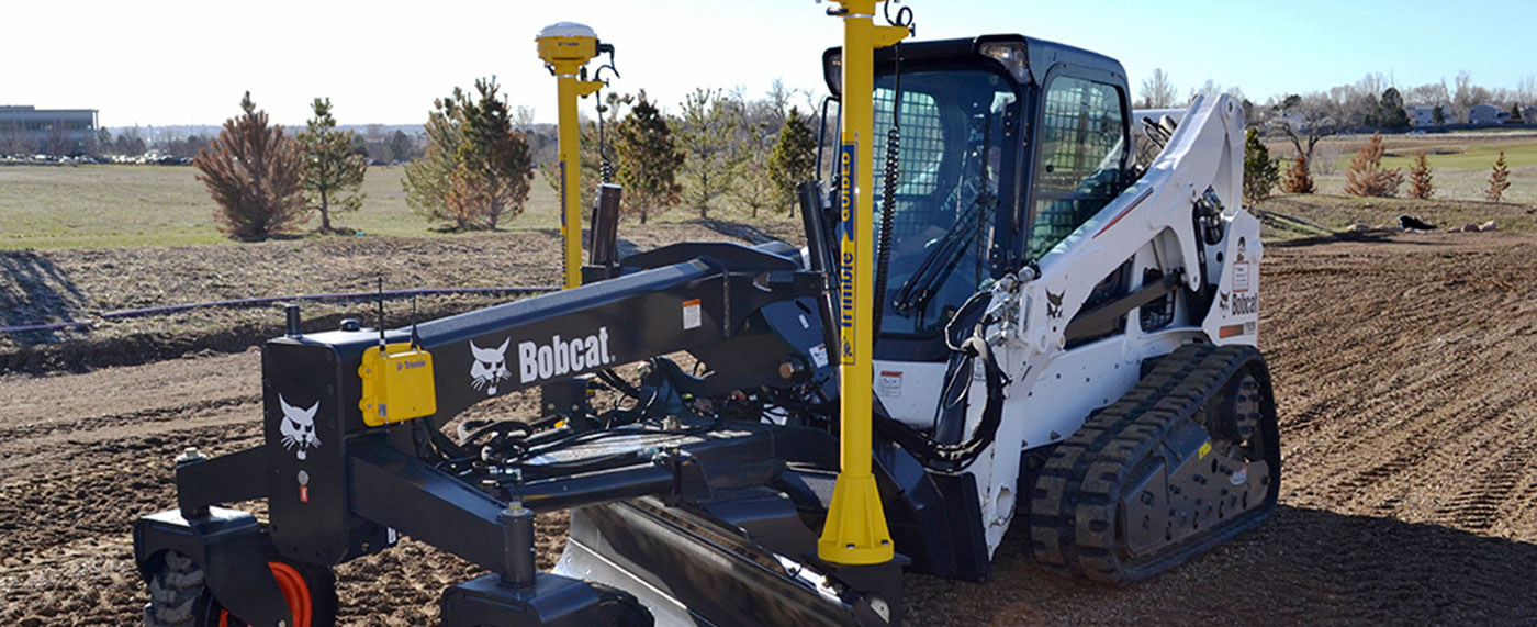 SITECH Trimble 3D Grading System on Skid Steer